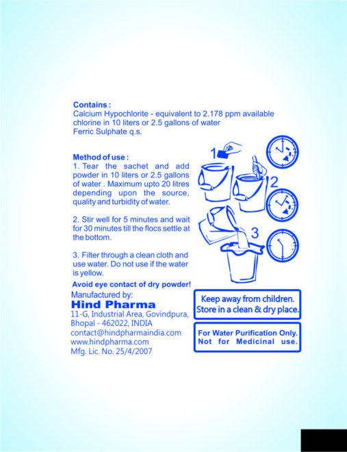 flo chlor Water Purification Powder 4 gm