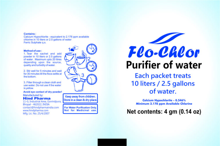 flo chlor Water Purification Powder 4 gm